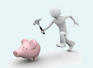 Loan Company Piggy Bank